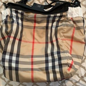 Burberry Bags - Burberry shopper nylon and leather tote in white